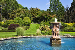Garden Pool. Art designed into a small fountain in the gardens Royalty Free Stock Image