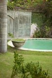 Garden with Pool Stock Photography