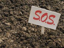 Garden poor clay soil sos, problem. Stock Photos