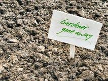 Garden with poor heavy soil - gardener gone. Stock Photography