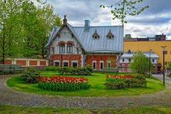 Garden of the Pori City Hall Stock Photo