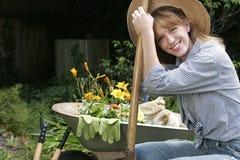 Garden portraits royalty free stock photos