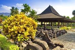 Garden in Prambanan temple site Stock Images