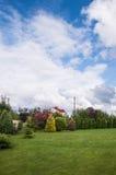 Garden of a private house Stock Photo