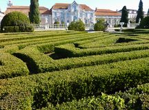 The garden of the Queluz palace Stock Images
