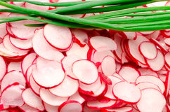 Garden radish the cut Stock Photos