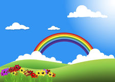Garden rainbow Royalty Free Stock Photography