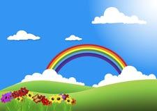 Garden rainbow Royalty Free Stock Photography