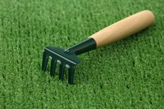 Garden rake Royalty Free Stock Photo