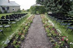 Garden reception wedding Royalty Free Stock Photography