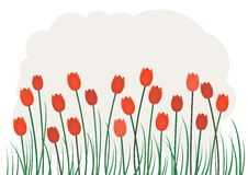 Garden. Red Tulips Royalty Free Stock Images