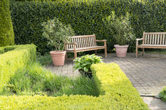 Garden relaxing place Stock Images