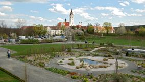 Garden of the religions near the abbey of Altenburg Royalty Free Stock Image
