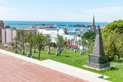 Garden of Remembrance in Donkin Reserve. PORT ELIZABETH, SOUTH AFRICA - FEBRUARY 27, 2016: The Garden of Remembrance in the Donkin Reserve for deceased Stock Photos