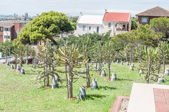 Garden of Remembrance in Donkin Reserve. PORT ELIZABETH, SOUTH AFRICA - FEBRUARY 27, 2016: The Garden of Remembrance in the Donkin Reserve for deceased Royalty Free Stock Photography