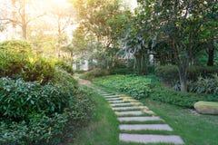 Garden of a residence community Royalty Free Stock Photos