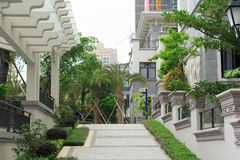 Garden residential in China. Chinese real estate - modern western style garden residential Royalty Free Stock Photos