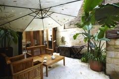Garden restaurant Royalty Free Stock Photo