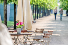 Garden restaurant in the park Royalty Free Stock Photo