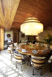 Garden restaurant's dining room Royalty Free Stock Images