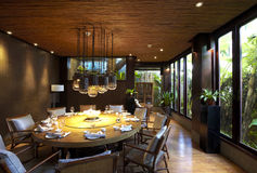 Garden restaurant's dining room. Garden restaurant's private dining room Royalty Free Stock Photos