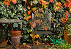 Garden Retreat in the Fall Royalty Free Stock Images