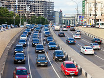 Garden ring street near Triumph Square in Moscow Royalty Free Stock Photography