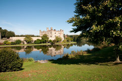 Garden river and castle Stock Photo