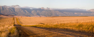 The Garden Road. Fields and agriculture on the incredible Garden Road in South Africa Stock Photo