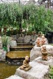 Garden in the Rokkaku-do temple. Waterfall in the Rokkaku-do, buddhist temple, Kyoto, Japan Stock Images