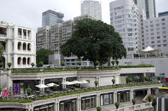 Garden on roof Hong Kong Royalty Free Stock Photo