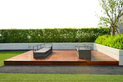 Garden on rooftop Stock Images