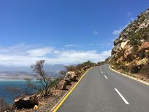 Garden route, road near Chapman`s peak, South Africa royalty free stock image