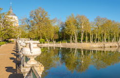 In the garden of Royal Palace in Aranjuez. Spain Royalty Free Stock Photography