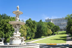 Garden in Royal Palace Madrid, Spain Royalty Free Stock Images