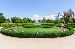 Garden in the Royal site of Aranjuez Stock Image