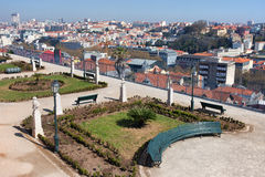 Garden of San Pedro de Alcantara in Lisbon Royalty Free Stock Photo