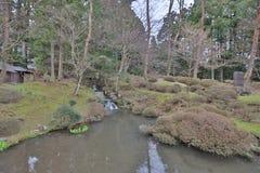 the garden at sanbutsu do temple royalty free stock photos