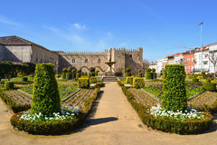 Garden of Santa Barbarain Braga Royalty Free Stock Image