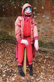 Garden Scarecrow. Royalty Free Stock Images