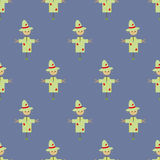 Garden Scarecrow seamless pattern Royalty Free Stock Photography