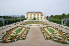 Garden of Schönbrunn palace Royalty Free Stock Photography