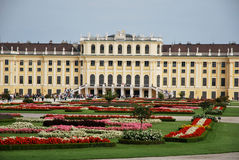 Garden in the Schönbrunn palace Royalty Free Stock Image