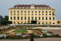 The garden of Schönbrunn palace Stock Images