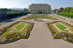Garden of Schonbrunn Palace Royalty Free Stock Images