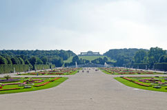 Garden of Schonbrunn Palace Royalty Free Stock Photos