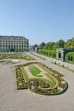 Garden of Schonbrunn Palace Stock Photo
