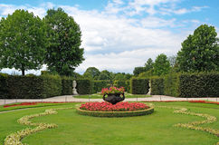 Garden of Schonbrunn Palace in Vienna, Austria. Royalty Free Stock Photo
