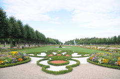 Garden of Schwetzingen Castle. This is the beautiful garden of Schwetzingen Castle in Germany. It is very large and beautifully decorated with many different Royalty Free Stock Images