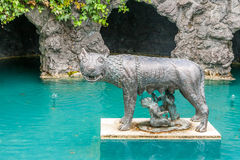 Garden sculpture. Sculpture at Hamilton gardens, New Zealand royalty free stock images